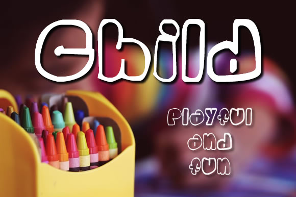 Child Display Font By Gustavo Lucero