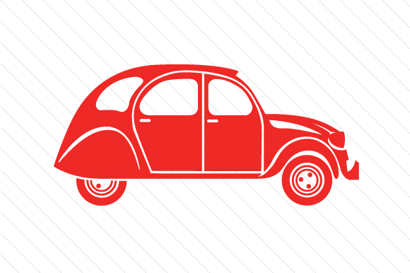 Citroen 2cv Red Vehicles Craft Cut File By Creative Fabrica Crafts