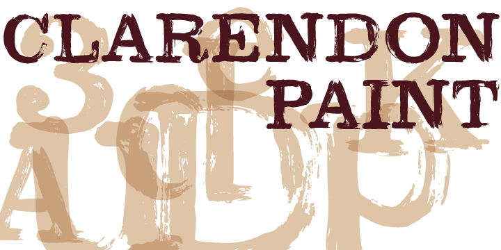 Print on Demand: Clarendon Paint Display Font By Good Gravy Type