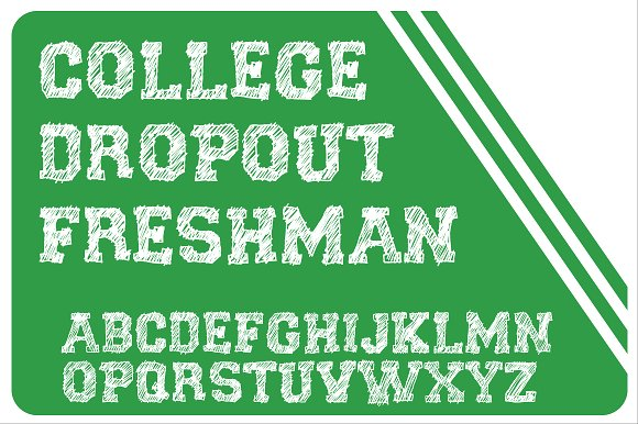 Print on Demand: College Dropout Slab Serif Font By Good Gravy Type - Image 2