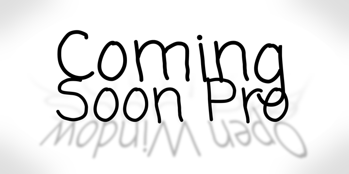 Print on Demand: Coming Soon Pro Script & Handwritten Font By Good Gravy Type