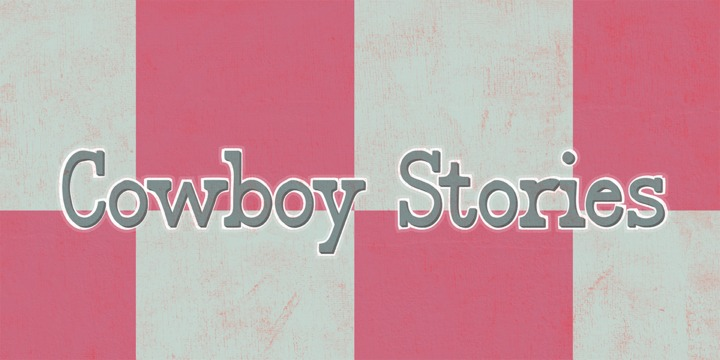 Print on Demand: Cowboy Stories Serif Font By Rocket Type