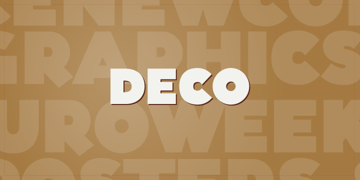 Print on Demand: Deco Display Font By Rocket Type