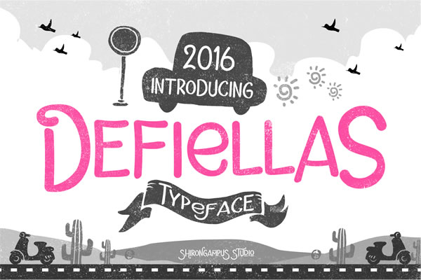 Print on Demand: Defiellas Display Font By Lettersiro Co.
