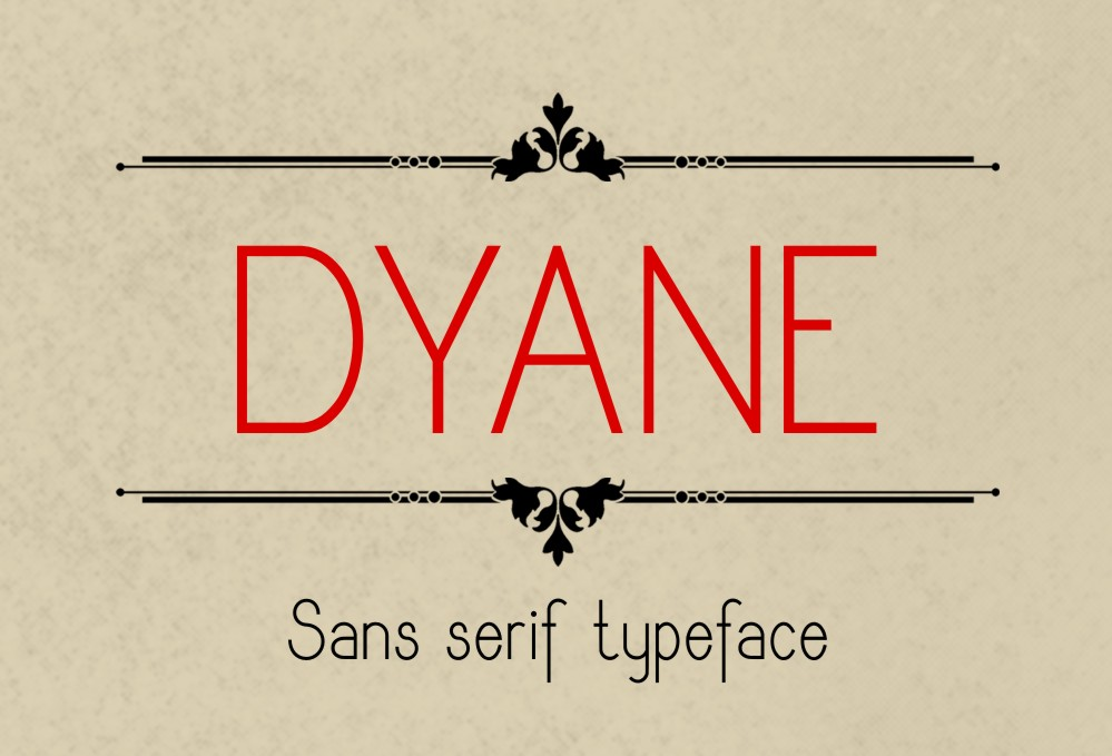 Print on Demand: Dyane Sans Serif Font By Eva Barabasne Olasz