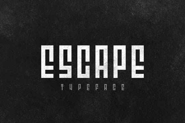 Print on Demand: Escape Display Font By Paul Stancel