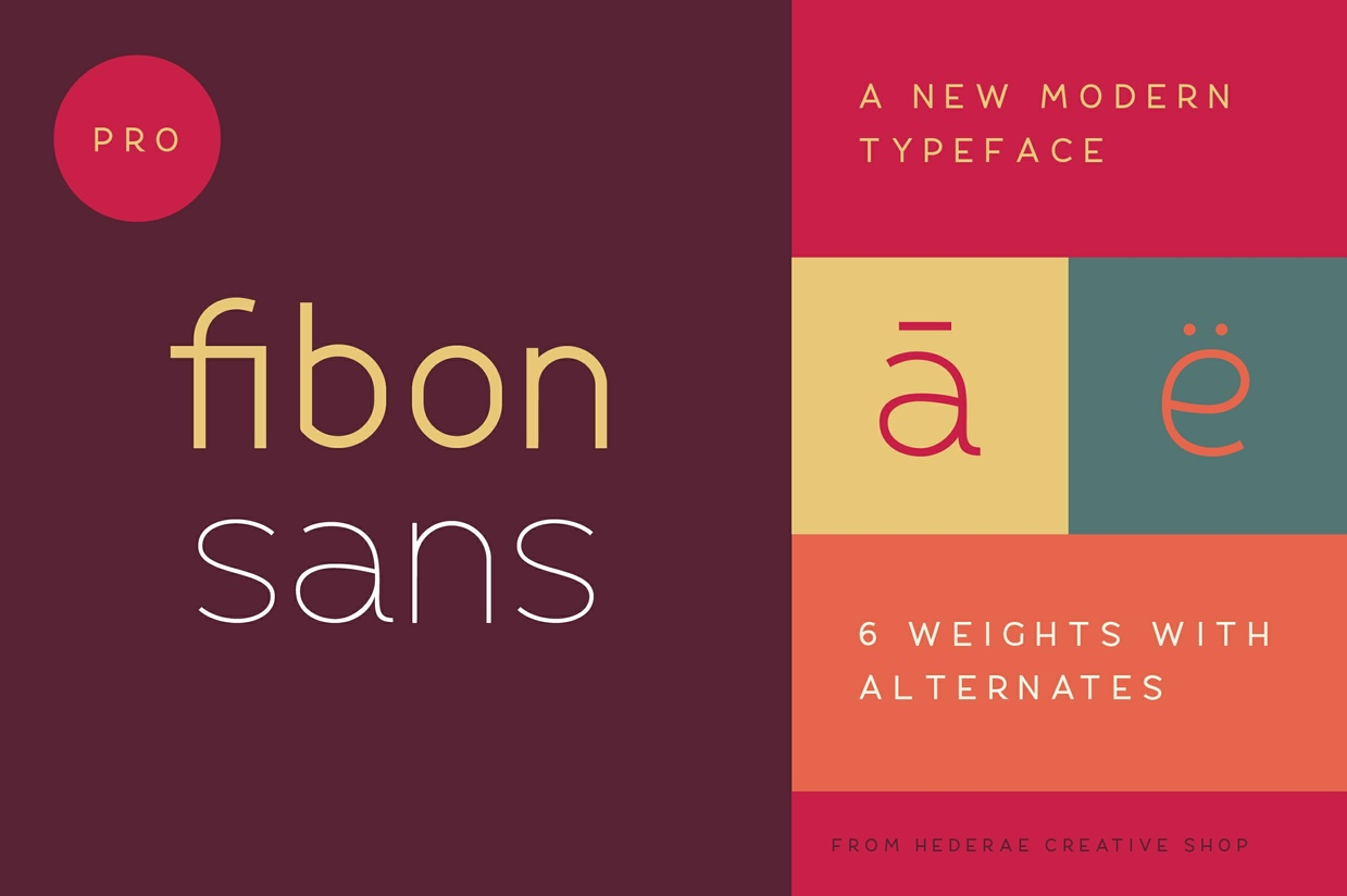 Print on Demand: Fibon Sans Regular Fuente Por Creative Fabrica Freebies