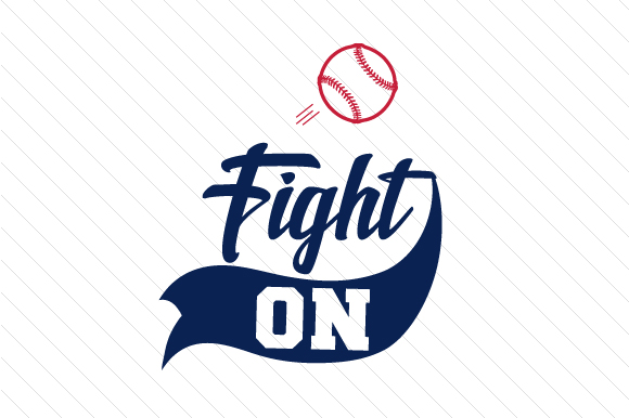 Download Free Fight On Baseball Svg Cut File By Creative Fabrica Crafts for Cricut Explore, Silhouette and other cutting machines.
