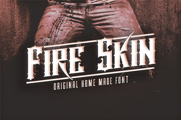 Fire Skin Font By VMF Font