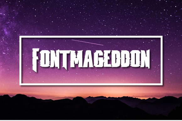 Print on Demand: Fontmageddon Font By jeffbensch
