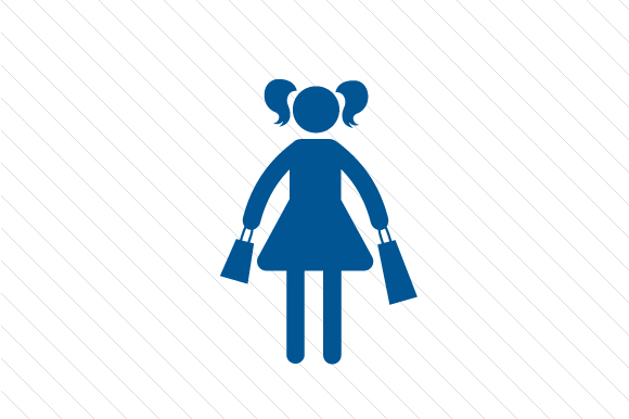 Family Car Decal: Girl with Shopping Bags Family Car Craft Cut File By Creative Fabrica Crafts