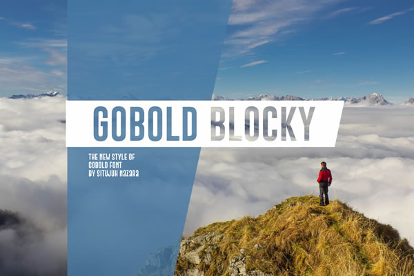 Print on Demand: Gobold Blocky Sans Serif Font By Situjuh