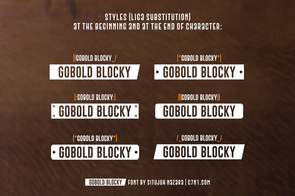 Print on Demand: Gobold Blocky Sans Serif Font By Situjuh - Image 2