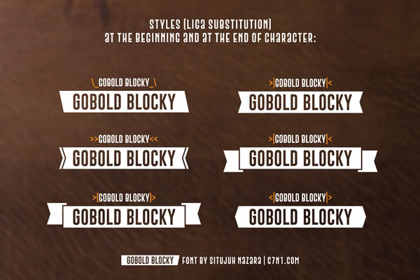 Print on Demand: Gobold Blocky Sans Serif Font By Situjuh - Image 3