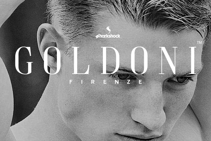 Print on Demand: Goldoni Display Font By Sharkshock