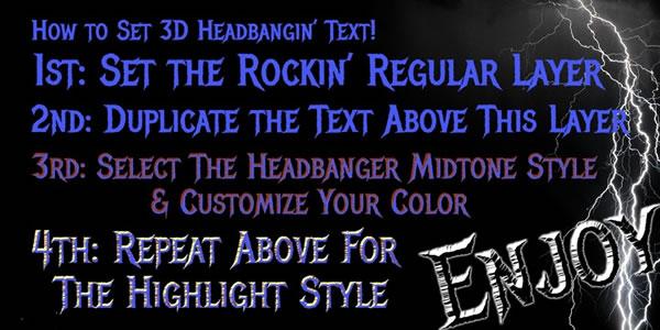 Print on Demand: Headbanger Blackletter Font By Rocket Type - Image 4