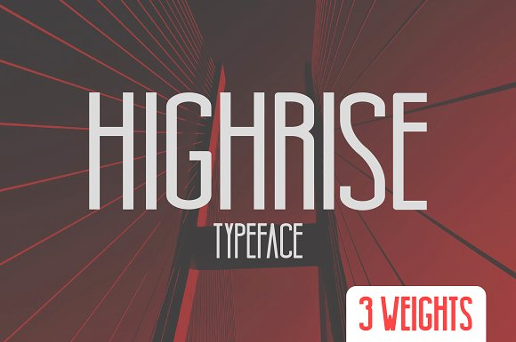 Print on Demand: Highrise Sans Serif Font By Mike Hill