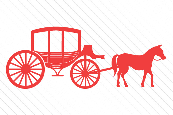 Horse and Carriage Red Vehicles Craft Cut File By Creative Fabrica Crafts