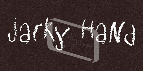 Print on Demand: Jacky Hand Display Font By Good Gravy Type