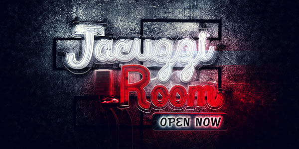 Print on Demand: Jacuzzi Room Display Font By Rocket Type