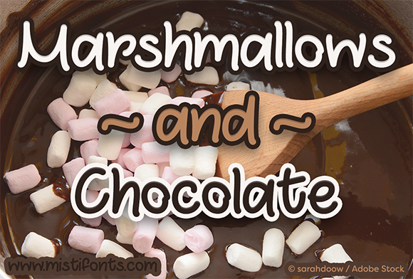 Print on Demand: Marshmallows and Chocolate Script & Handwritten Font By Misti