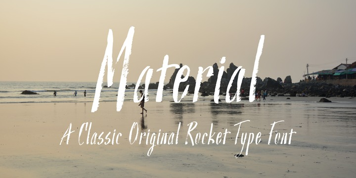 Print on Demand: Material Regular Script & Handwritten Font By Good Gravy Type