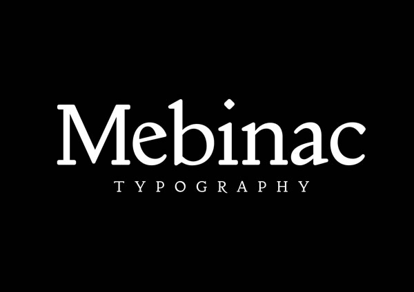 Print on Demand: Mebinac Regular Serif Font By Alan Hayward