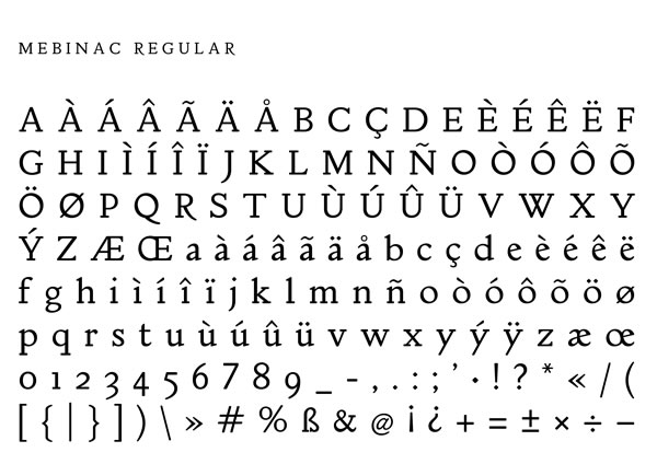 Print on Demand: Mebinac Regular Serif Font By Alan Hayward - Image 2