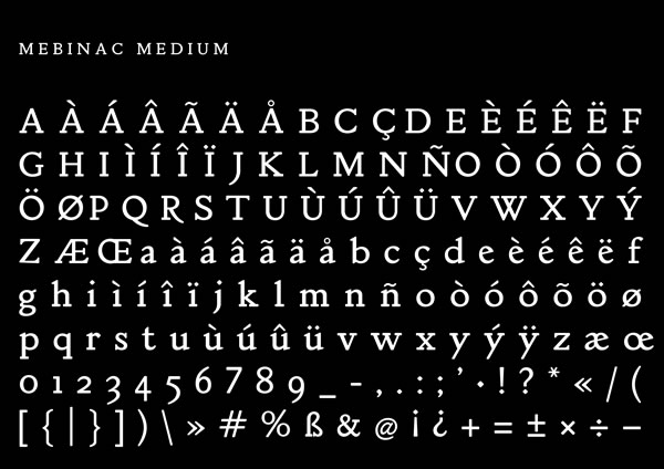 Print on Demand: Mebinac Regular Serif Font By Alan Hayward - Image 3