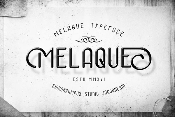 Print on Demand: Melaque Display Font By Lettersiro Co.