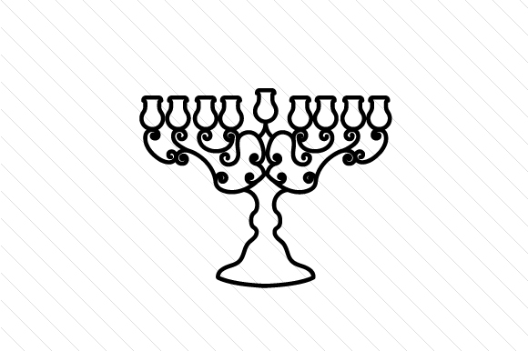 Menorah Jewish Craft Cut File By Creative Fabrica Crafts