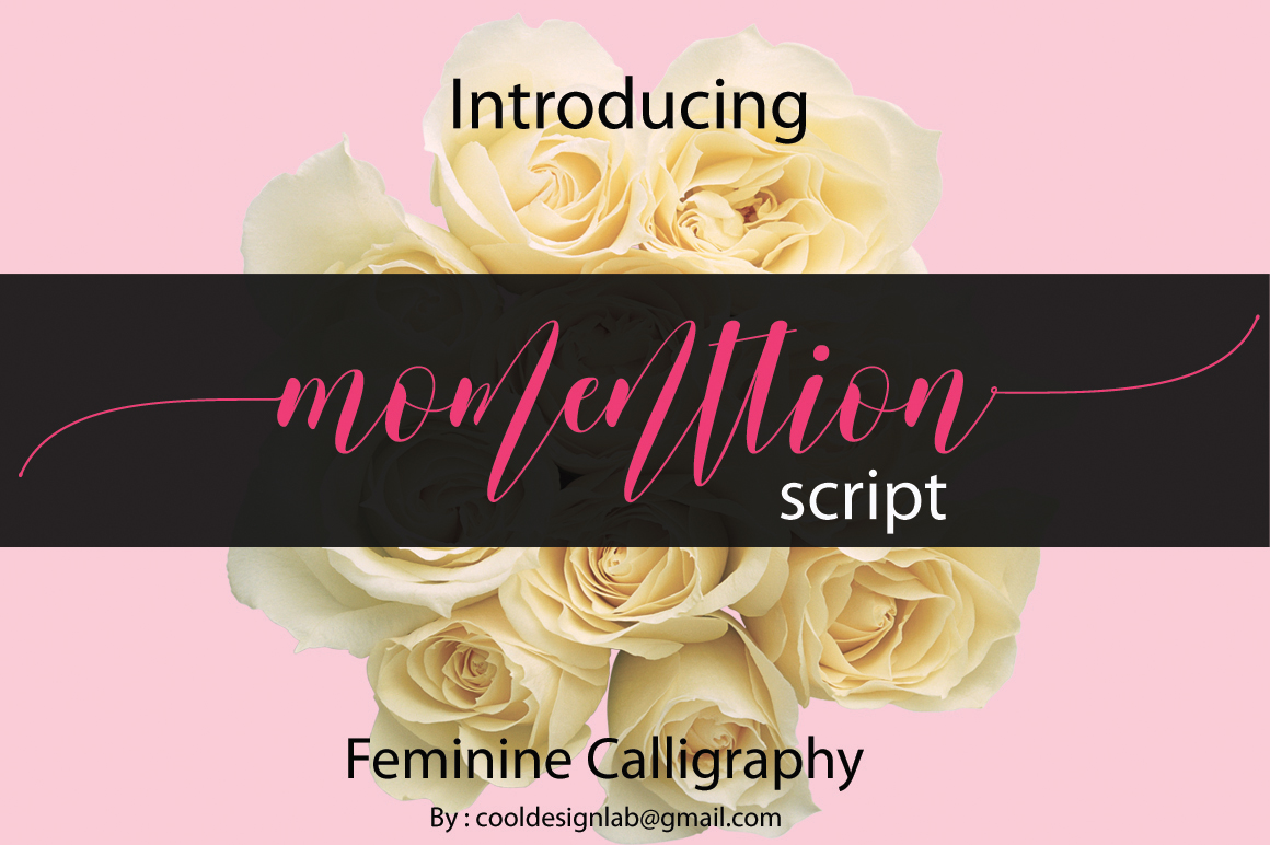 Print on Demand: Momenttion Script & Handwritten Font By Cooldesignlab