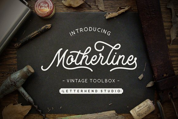 Print on Demand: Motherline Script & Handwritten Font By letterhend - Image 1