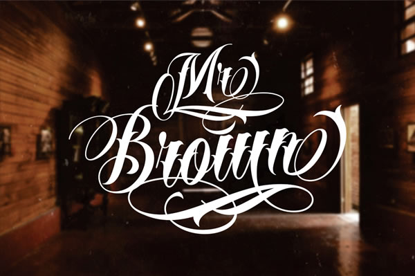 Print on Demand: Mr Brown Script & Handwritten Font By VMF Font