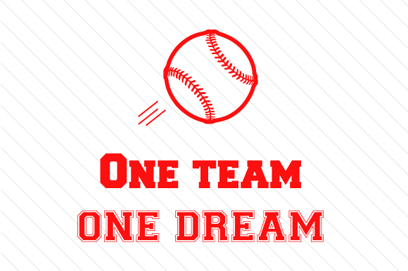 Download Free One Team One Dream Baseball Svg Cut File By Creative Fabrica for Cricut Explore, Silhouette and other cutting machines.