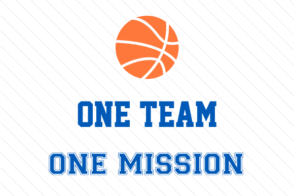 Download Free One Team One Mission Basketball Svg Cut File By Creative Fabrica for Cricut Explore, Silhouette and other cutting machines.