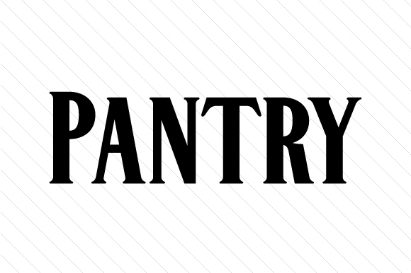 Pantry Word Art Craft Cut File By Creative Fabrica Crafts