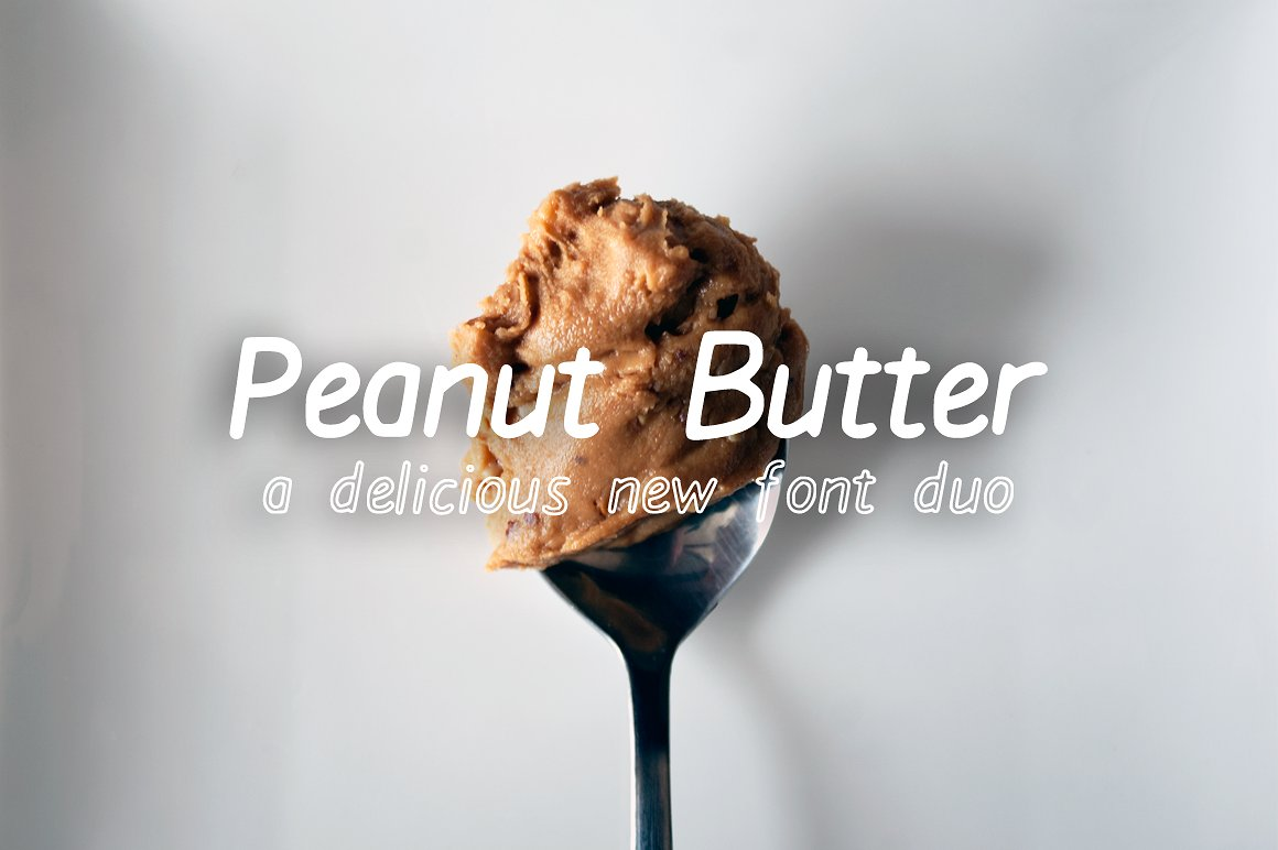 Peanut Butter Font Duo by Rachel Irving