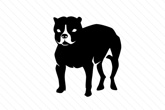Dog Breed - Pit Bull Terrier Craft Design By Creative Fabrica Crafts