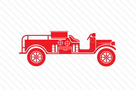Fire Truck Design Red Vehicles Craft Cut File By Creative Fabrica Crafts - Image 1
