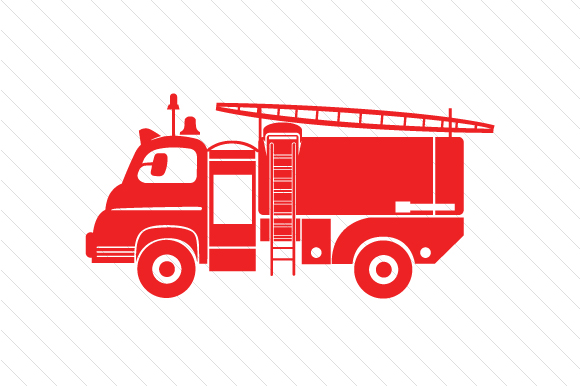 Download Free Fire Truck Design Svg Cut File By Creative Fabrica Crafts for Cricut Explore, Silhouette and other cutting machines.