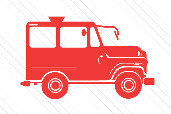 Red Jeep Red Vehicles Craft Cut File By Creative Fabrica Crafts