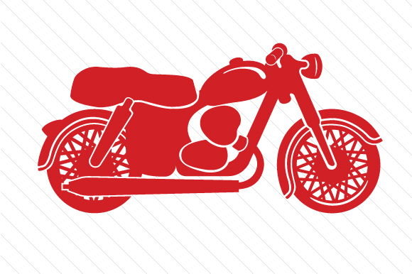 Red Motorcycle Red Vehicles Craft Cut File By Creative Fabrica Crafts