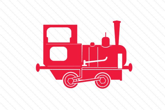 Red Train / Locomotive Red Vehicles Craft Cut File By Creative Fabrica Crafts