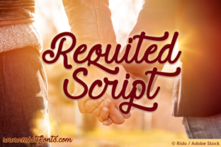 Requited Script Font By Misti