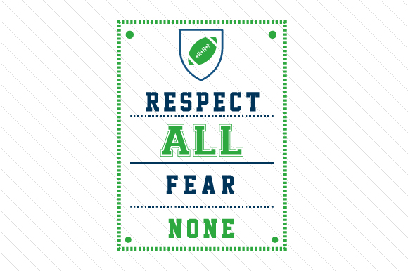 Respect All Fear None Football Sports Craft Cut File By Creative Fabrica Crafts
