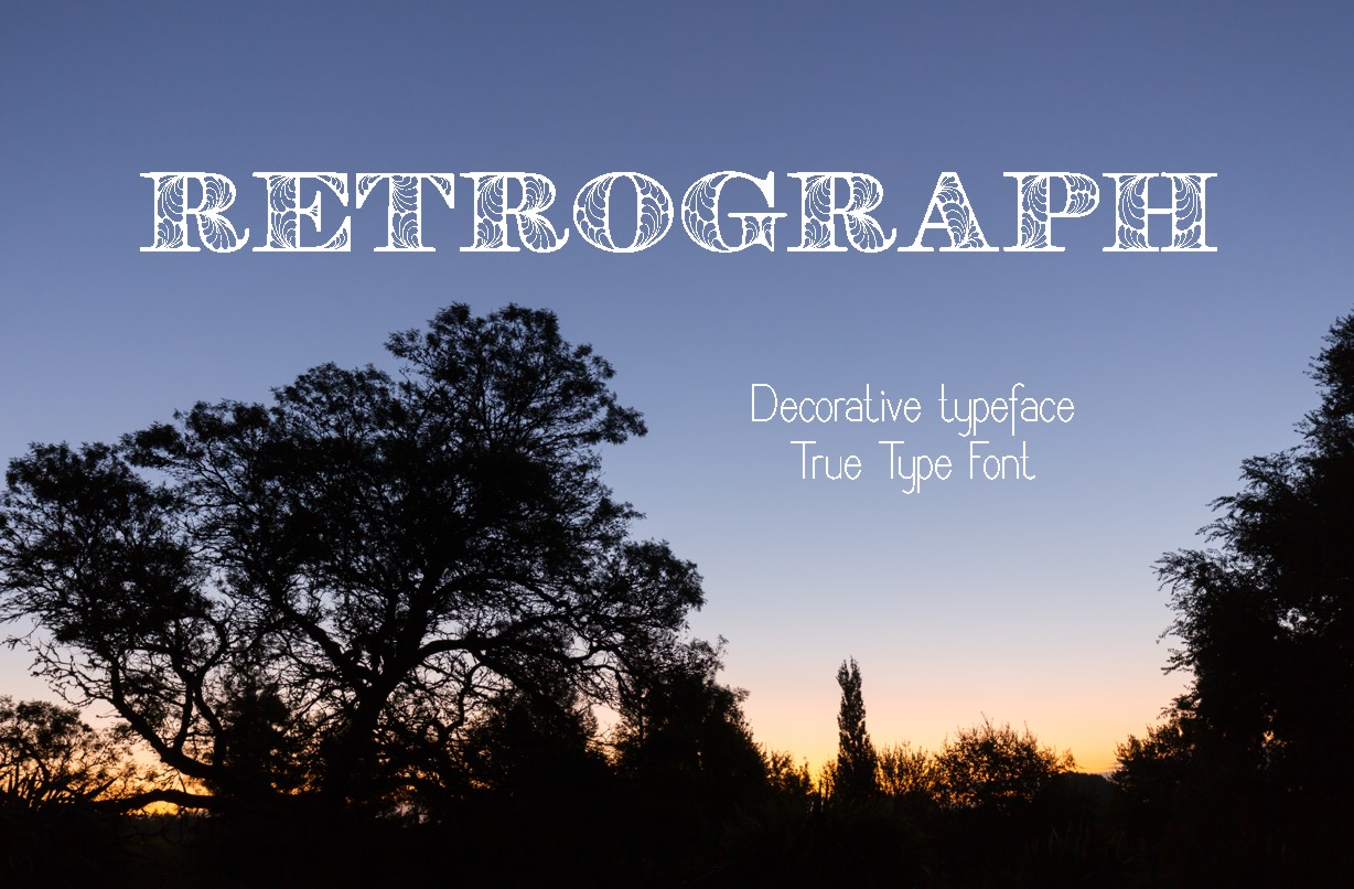 Retrograph Decorative Font By Eva Barabasne Olasz