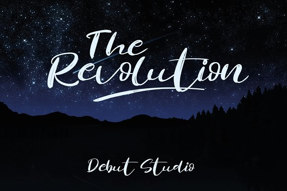 Print on Demand: Revolution Brush Script & Handwritten Font By Debut Studio