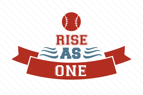 Rise As One Baseball Sports Craft Cut File By Creative Fabrica Crafts - Image 1