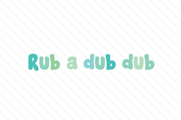 Rub a Dub Dub Kids Craft Cut File By Creative Fabrica Crafts